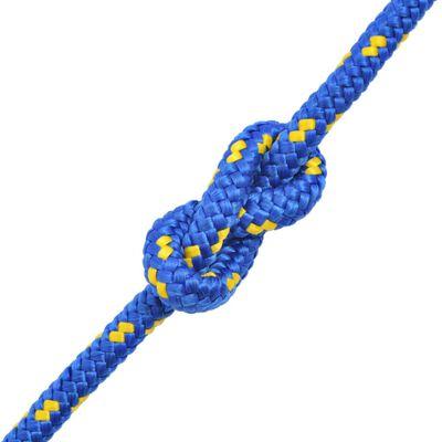 vidaXL Jūrinė virvė, mėlyna, 50m, polipropilenas, 16mm