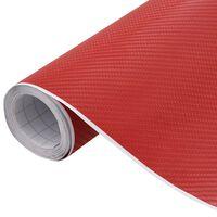 vidaXL Automobilio plėvelė, raudonos spalvos, 200x152cm, 4D