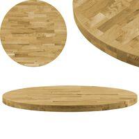 vidaXL Stalviršis, masyvi ąžuolo mediena, apvalus, 44mm, 600mm