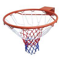 vidaXL Krepšinio lanko rinkinys, lankas su tinklu, oranžinis, 45cm
