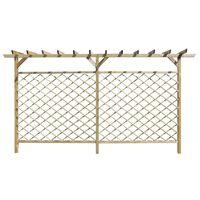 vidaXL Sodo tvora su grotelėmis ir pergolės viršumi, mediena