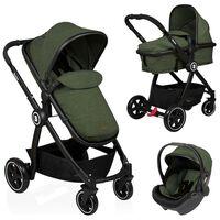 Baninni Vaikiškas vežimėlis Otto 3-1, alyvuogių žalios spalvos