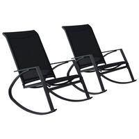 vidaXL Supamos sodo kėdės, 2vnt., juodos spalvos, tekstilenas
