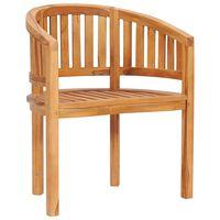 vidaXL Banano formos kėdė, tikmedžio medienos masyvas