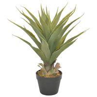 vidaXL Dirbtinis augalas-juka su vazonu, žalios spalvos, 60cm