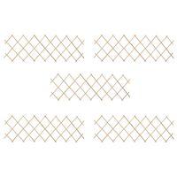 vidaXL Treliažo tvoros, 5vnt., 180x60cm, eglės mediena