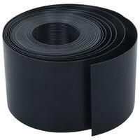 vidaXL Sodo apvadas, juodos spalvos, 10m, 15cm, PE
