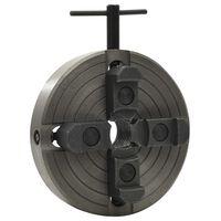 vidaXL 4 žiočių medienos griebtuvas, juodas, 150x63mm, plienas