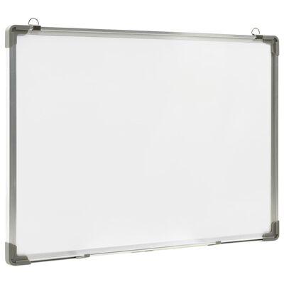 vidaXL Magnetinė sauso valymo lenta, baltos spalvos, 70x50cm, plienas