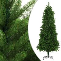 vidaXL Dirbtinė Kalėdų eglutė, žalia, 240cm, tikrų spyglių imitacija