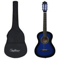 """vidaXL Klasikinės gitaros rinkinys pradedantiesiems, 8 dalių, 1/2 34"""""""