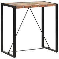 vidaXL Baro stalas, 110x60x110cm, perdirbtos medienos masyvas