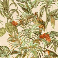 DUTCH WALLCOVERINGS Tapetai Bird-of-Paradise, žalios spalvos