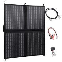 vidaXL Sulankstomos saulės energijos plokštės įkroviklis, 80W, 12V