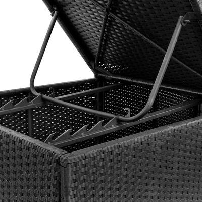 vidaXL Saulės gultai su čiuž., 2 vnt., juodos sp., polirat. (2x44404)