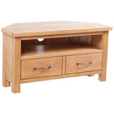 vidaXL TV spintelė su stalčiumi, 88x42x46cm, ąžuolo medienos masyvas