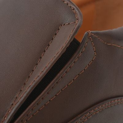 vidaXL Vyriški batai, rudi, dydis 40, PU oda