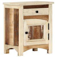 vidaXL Naktinė spintelė, 40x30x50cm, perdirbtos medienos masyvas
