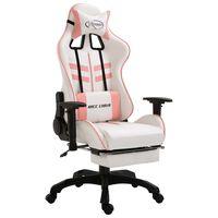vidaXL Žaidimų kėdė su atrama kojoms, rožinė, dirbtinė oda