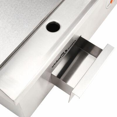 vidaXL Elektrinė keptuvė, nerūdijantis plienas, 3000W, 54x41x24cm