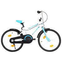 vidaXL Vaikiškas dviratis, mėlynos ir baltos spalvos, 18 colių