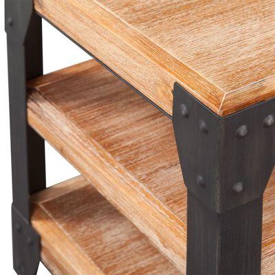 vidaXL TV staliukas, tvirta akacijos mediena, 140x40x45 cm