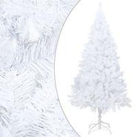 vidaXL Dirbtinė Kalėdų eglutė su storomis šakomis, balta, 210cm, PVC
