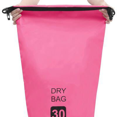 vidaXL Vandeniui atsparus krepšys, rožinės spalvos, 30 L talpos, PVC