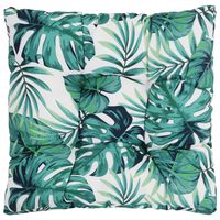 vidaXL Sėdima sodo pagalvėlė, 80x80x10cm, audinys, su lapais