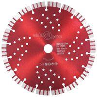 vidaXL Turbo deimantinis pjovimo diskas su angomis, plienas, 230mm