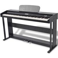 vidaXL Skaitmeninis pianinas, 88 klavišai, juoda melamino plokštė
