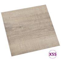 vidaXL Grindų plokštės, 55vnt., taupe, 5,11m², PVC, prilimpančios