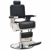 vidaXL Kirpėjo kėdė, juoda, 68x69x116 cm, dirbtinė oda