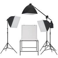 vidaXL Fotostudijos šviesdėžių rinkinys su fotografavimo stalu