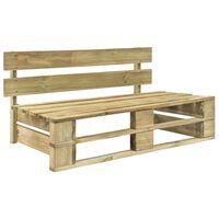 vidaXL Sodo suoliukas iš palečių, mediena