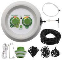 vidaXL Automatinė lašelinė laistymo sistema su valdikliu