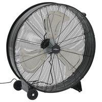 vidaXL Pramoninis ventiliatorius, juodos spalvos, 77cm, 180W