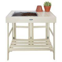 Esschert Design Sodinimo stalas, baltos spalvos