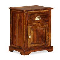 vidaXL Naktinis staliukas, 40x30x50cm, rausvosios dalbergijos mediena