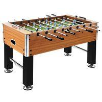 vidaXL Stalo futbolo stalas, rudas/juodas, 140x74,5x87,5cm, plienas