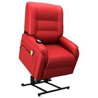 vidaXL Elektrinis atlošiamas TV krėslas, raudonojo vyno, dirbtinė oda