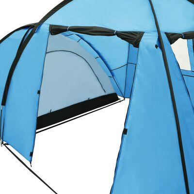 vidaXL Stovyklavimo palapinė, mėlyna, 450x240x190cm, iglu tipo, Blue
