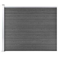 vidaXL Tvoros segmentas, juodos spalvos, 175x146cm, WPC