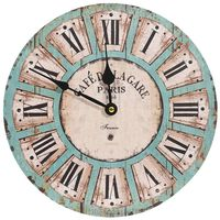 vidaXL Sieninis laikrodis, įvairiaspalvis, 30cm, MDF