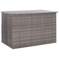 vidaXL Sodo daiktadėžė, pilkos spalvos, 150x100x100cm, poliratanas