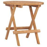 vidaXL Sulankstomas sodo stalas, 50x50x50cm, tikmedžio masyvas