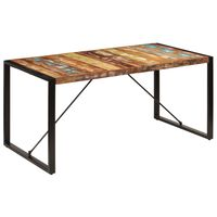 vidaXL Valgomojo stalas, 160x80x75cm, perdirbtos medienos masyvas