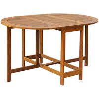 vidaXL Sodo stalas, 130x90x72cm, akacijos medienos masyvas