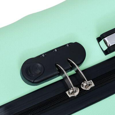 vidaXL Lagaminų rinkinys, 3vnt., mėtinės spalvos, ABS, kieto korpuso, Mint