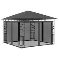 vidaXL Pavėsinė su tinkleliu nuo uodų, antracito, 3x3x2,73m, 180g/m²